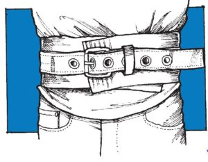 putting-on-safety-belt