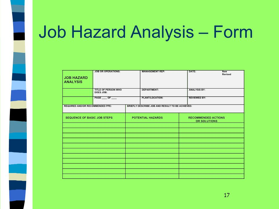 Job hazard analysis form hsse world click here to download more hse forms maxwellsz