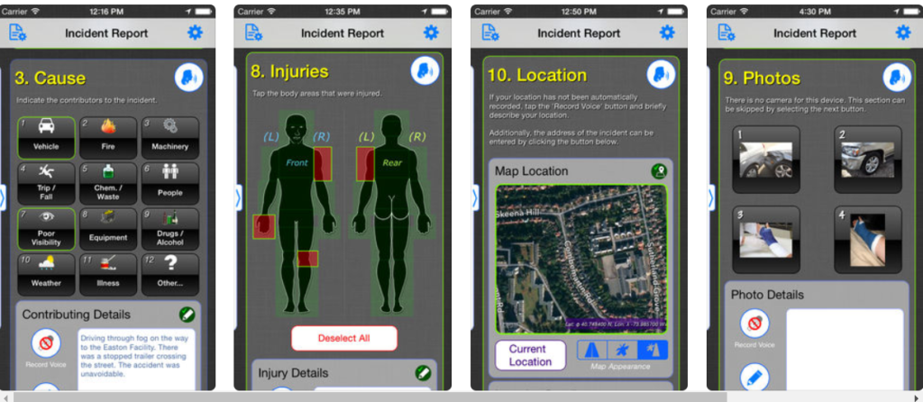 incident report safety app