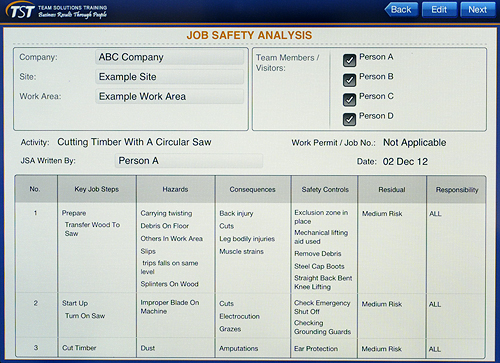 Job Safety Analysis (JSA):Safety APP.