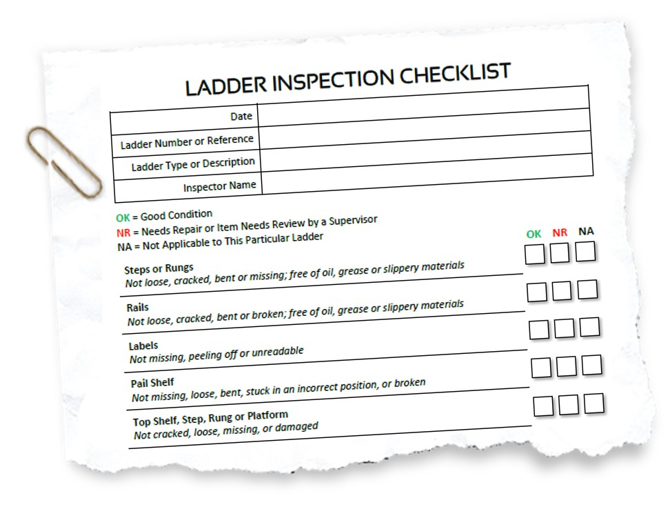 Portable Ladder Self Inspection Checklist Hsse World