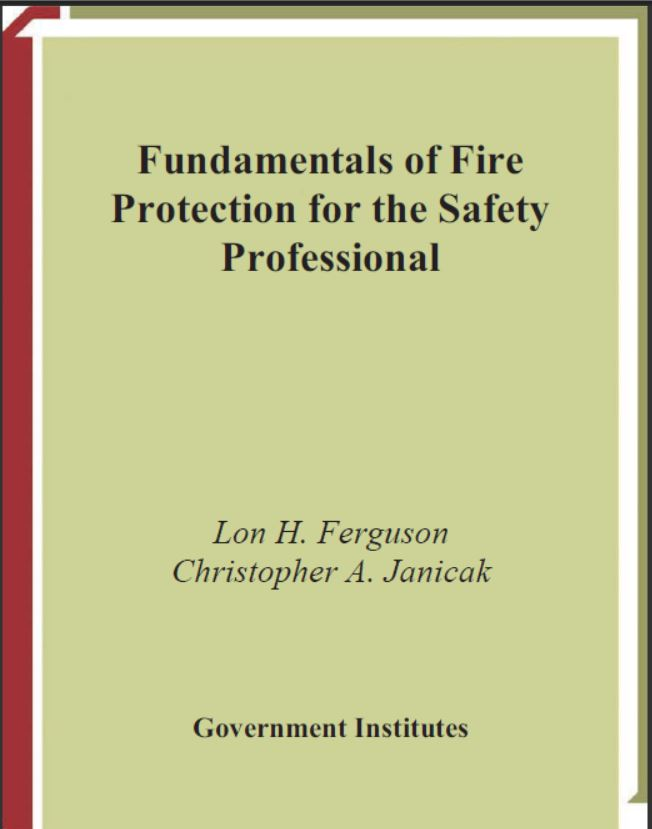 E-Books:Fundamentals of Fire Protection for the Safety Professional