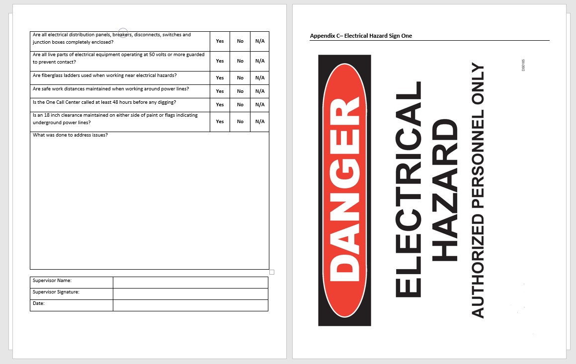 Templates:Electrical Safety Program