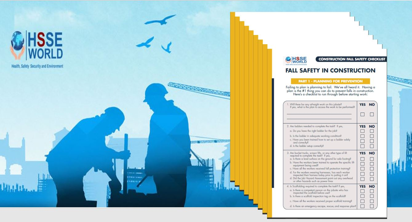 Fall safety at construction checklist